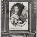 P. Aubry, Portret królowej Marii Gonzagi, XVIII w., miedzioryt