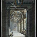 Loggie Watykańskie, Perspektywa krużganka galerii z freskami Rafaela, Rzym, III ćw. XVIII w.