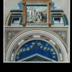 Loggie Watykańskie, Mojżesz daje przykazania swojemu ludowi /sklepienie IX/, Rzym, III ćw. XVIII w.