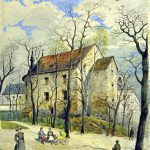 Alfred Kamienobrodzki (1844-1922), Baszta Prochowa we Lwowie, k. XIX pocz. XX w., papier, akwarela