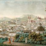 Antoni Lange (1774-1842), Widok Lwowa z góry Wronowskich, 1822-1825, papier, gwasz