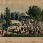 lit. Karol Auer (1818-1859), Strzelnica (budynek przy ul. Łysenki 23a), 1837-1838, Pracownia litograficzna P. Pillera, papier, litografia barwna